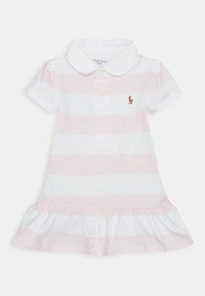 RUGBY STRIPE SET - Robe en jersey - delicate pink/white
