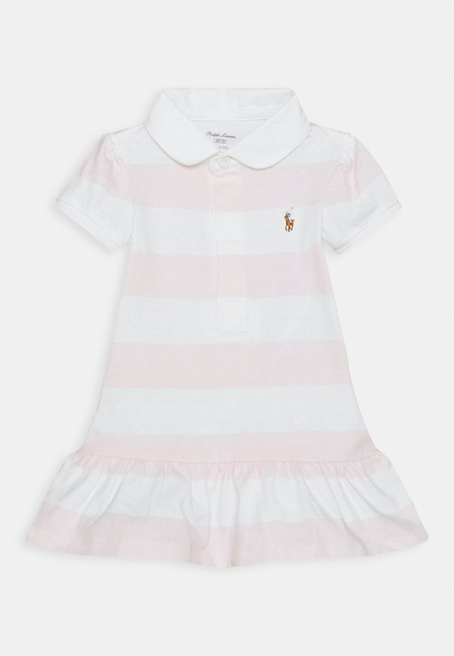 RUGBY STRIPE SET - Jerseyjurk - delicate pink/white