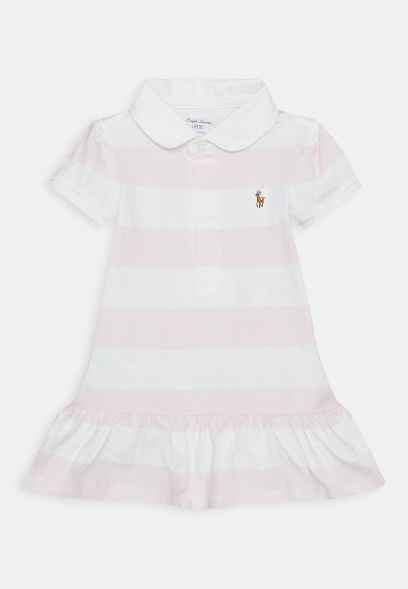 Polo Ralph Lauren - RUGBY STRIPE SET - Jersey dress - delicate pink/white