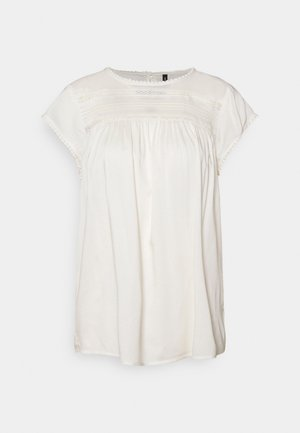 VMDEBBIE PLEAT - Print T-shirt - snow white