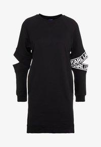 KARL LAGERFELD - CUT OUT SLEEVE DRESS - Day dress - black - 5