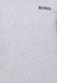Björn Borg - LOGO TEE - Jednoduché triko - light grey melange - 2
