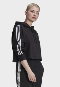 adidas Originals - Jersey con capucha - black/white - 3
