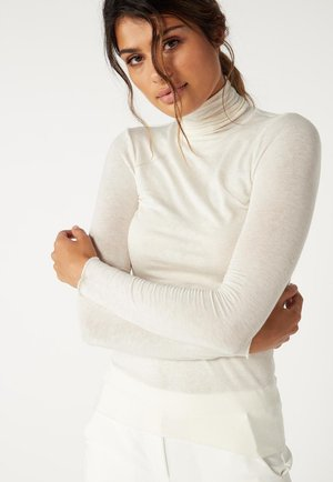 HOCHGESCHLOSSENES ULTRALIGHT - Long sleeved top - vaniglia