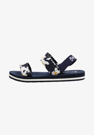 MIA FLOWER - Sandals - ink blue