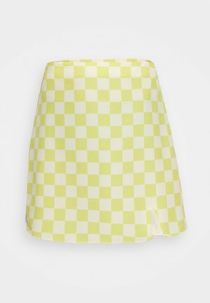 MAYA CARE FLORAL PRINTED MINI SKIRT - Minihame - green checkboard