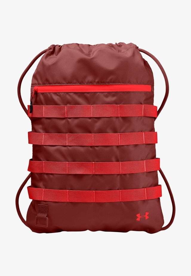 Drawstring sports bag - cinna red