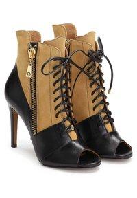 Kazar - MEGAN - High heeled ankle boots - brown - 1