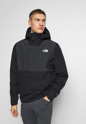 MEN'S WATERPROOF FANORAK - Windbreakers - black