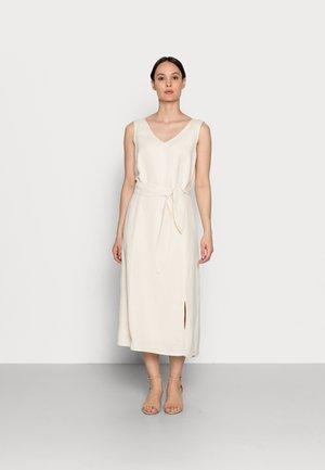 DRESS A-SAHPE LINEN MIDI - Day dress - soft powder beige