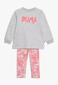 Puma - MINICATS GIRLS SET - Tracksuit - light gray heather - 0