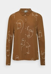 ICHI - IHCARISSA - Button-down blouse - brown - 0