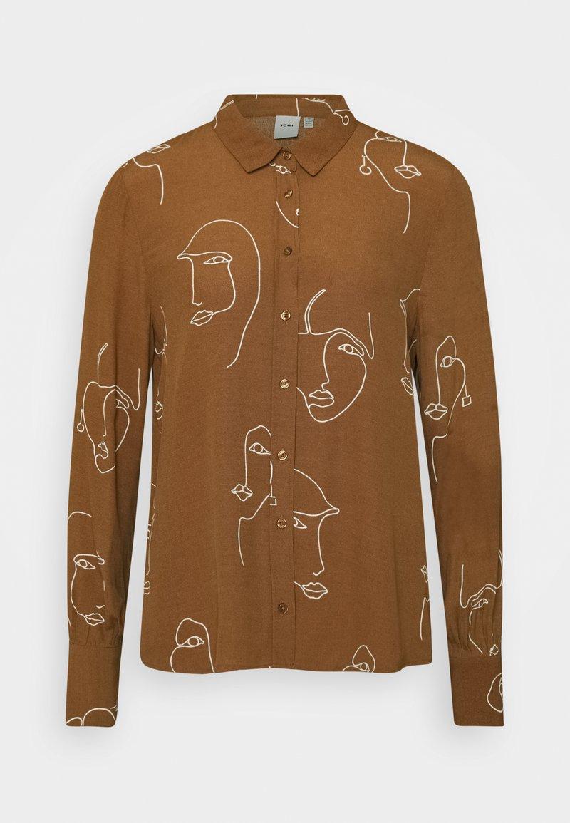 ICHI - IHCARISSA - Button-down blouse - brown