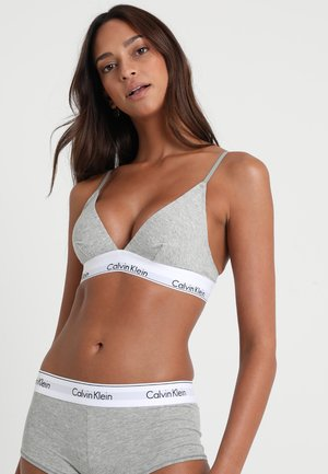 UNLINED - Triangle bra - grey heather