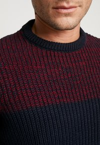 Pier One - Pullover - dark blue/bordeaux - 4