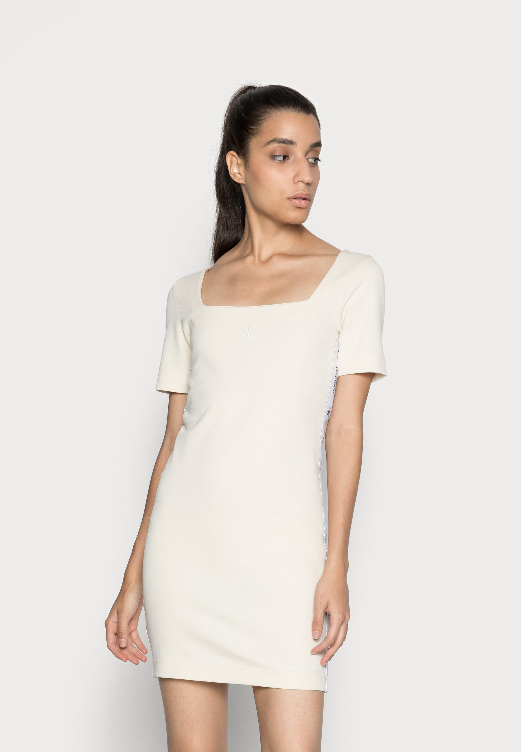 Women SQUARE NECK DRESS - Jersey dress