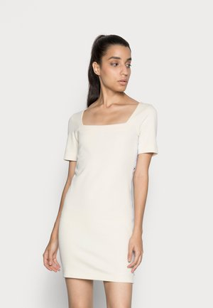SQUARE NECK DRESS - Jersey dress - muslin