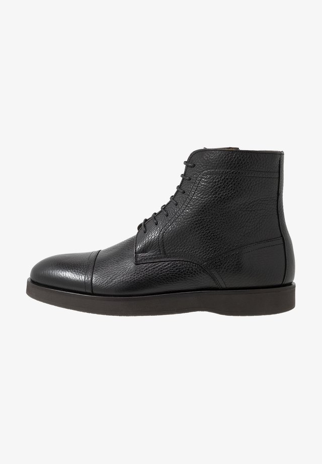 ORACLE - Šněrovací kotníkové boty - black