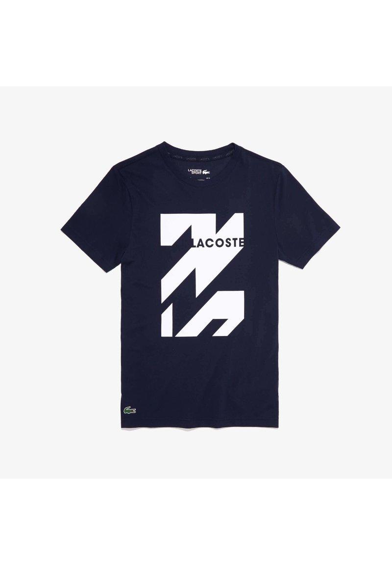 Lacoste Sport - SPORT TEE HOMME - Print T-shirt - blue