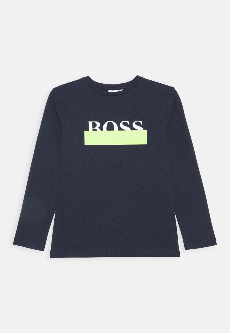 BOSS Kidswear - LONG SLEEVE - Top sdlouhým rukávem - navy