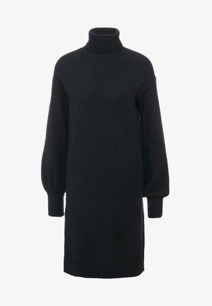 SUPERSOFT TURTLENECK DRESS - Robe pull - black