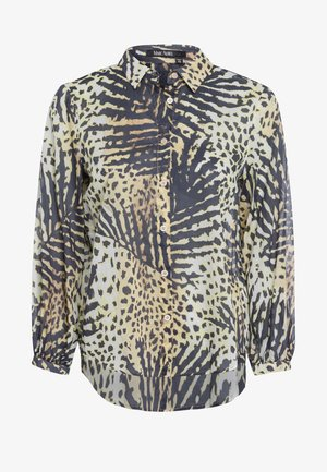 Button-down blouse - sand varied