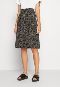 King Louie - SOFIA MIDI SKIRT SEVRES - A-line skirt - black - 0
