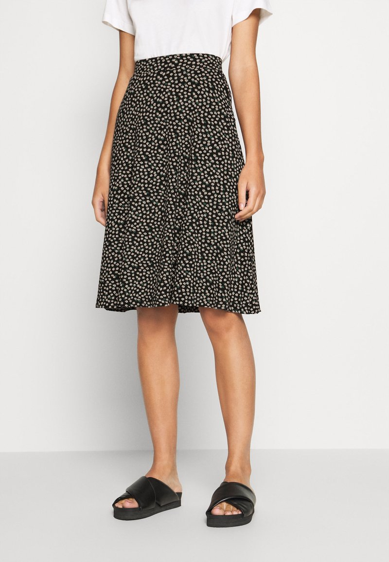 King Louie - SOFIA MIDI SKIRT SEVRES - A-line skirt - black