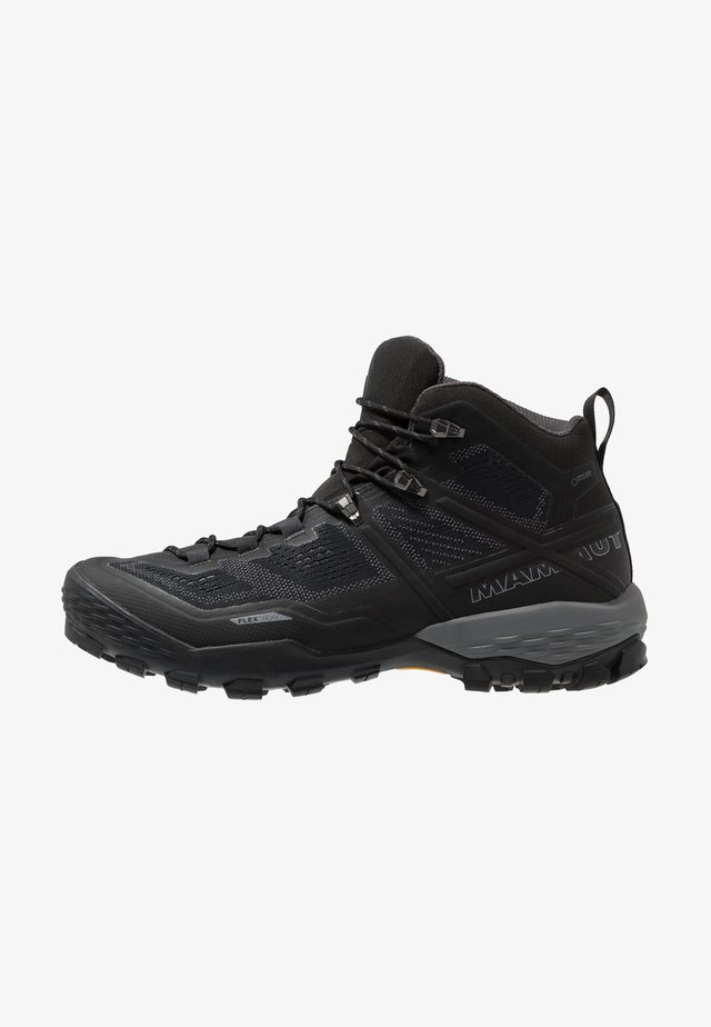 DUCAN MID GTX - Hiking shoes - black/dark titanium