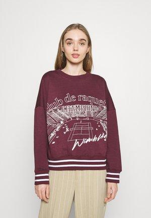 CLUB DE RAQUETTE GRAPHIC OVERSIZED - Sweatshirt - burgundy