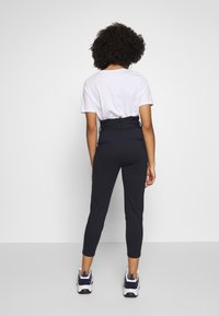 Vero Moda Petite - VMEVA LOOSE PAPERBAG PANT - Trousers - night sky - 2