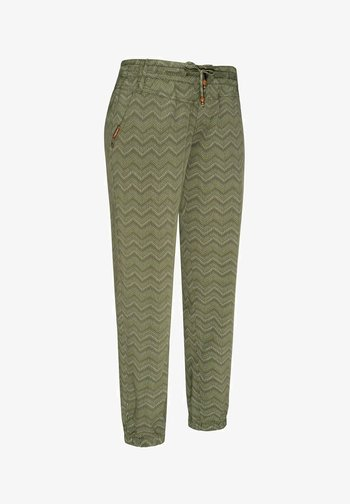 TALIN CHEVRON - Trousers - olive