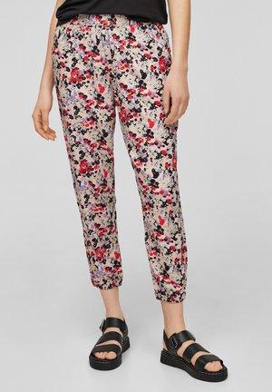 Trousers - apricot aop
