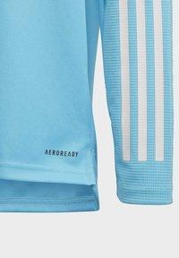 adidas Performance - REAL MADRID AEROREADY FOOTBALL PULLOVER - Long sleeved top - turquoise - 6