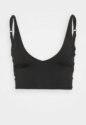 TONI PLUNGE CROP - Bikini top - black