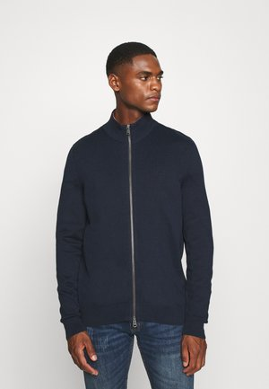 JACKET WITH ZIP - Kardigan - total eclipse