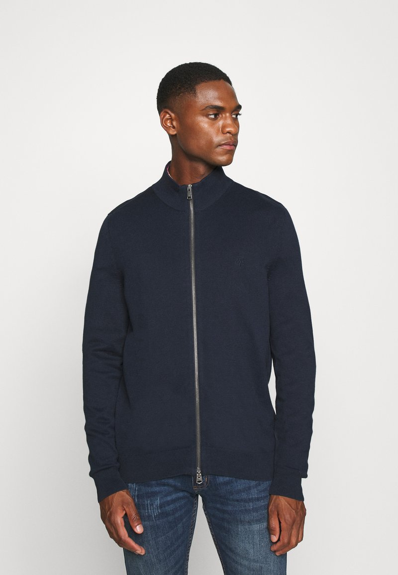 Marc O'Polo - JACKET WITH ZIP - Cardigan - total eclipse