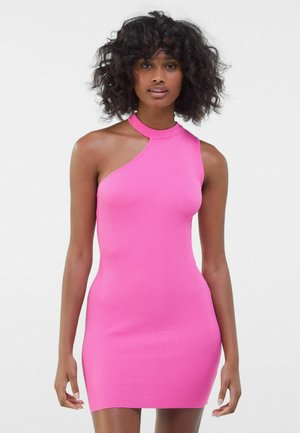 Cocktail dress / Party dress - neon pink