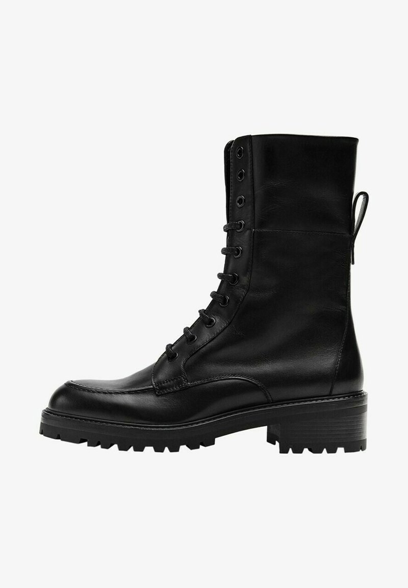 Massimo Dutti - Lace-up ankle boots - black