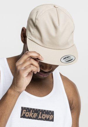 UNSTRUCTURED 5-PANEL SNAPBACK - Cap - beige