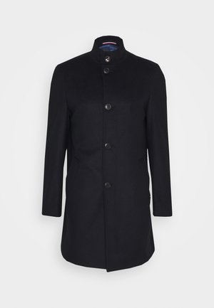 SOLID STAND UP COLLAR COAT - Zimní kabát - blue