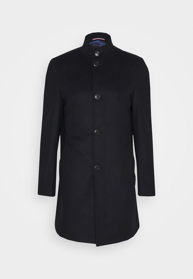 SOLID STAND UP COLLAR COAT - Abrigo - blue
