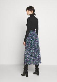 Lauren Ralph Lauren - CRINKLE SKIRT - Áčková sukně - black/multi - 2