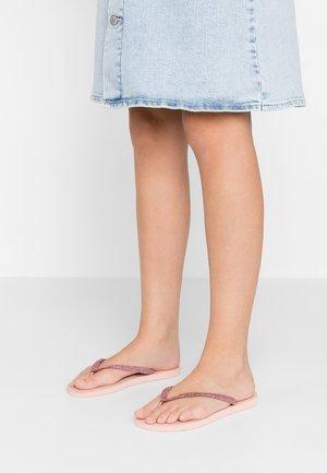 SLIM GLITTER - T-bar sandals - ballet rose