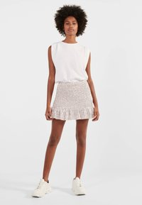 Bershka - MIT GLITZER  - A-line skirt - pink - 1
