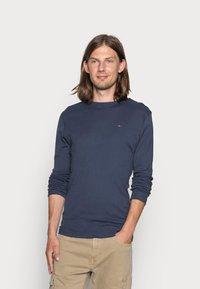 Tommy Jeans - ORIGINAL SLIM FIT - Long sleeved top - black iris - 0