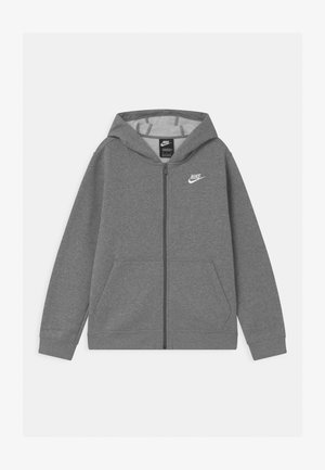 PLUS HOODIE CLUB - Bluza rozpinana - carbon heather/white