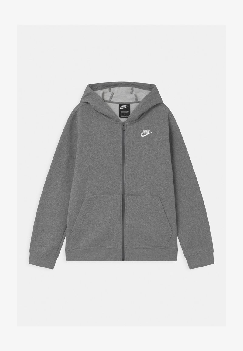 Nike Sportswear - PLUS HOODIE CLUB - Sweater met rits - carbon heather/white