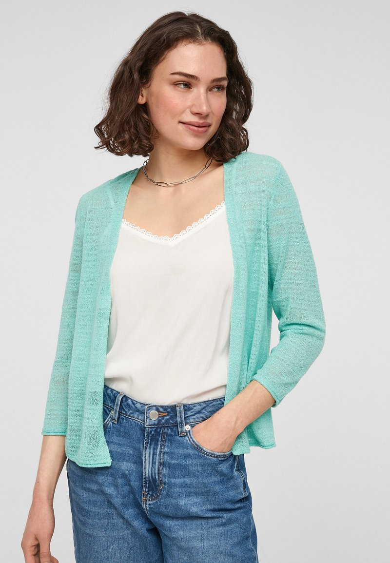 Q/S designed by - Cardigan - turquoise