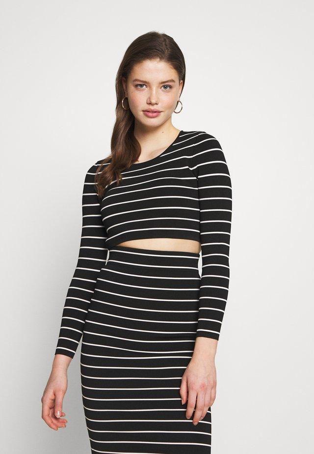 STRIPE CROP  - Long sleeved top - stripe